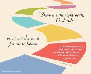 follow the path, God, roadblocks